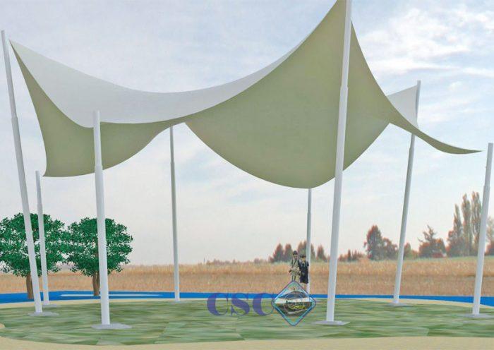 Pemasangan Tenda Membrane